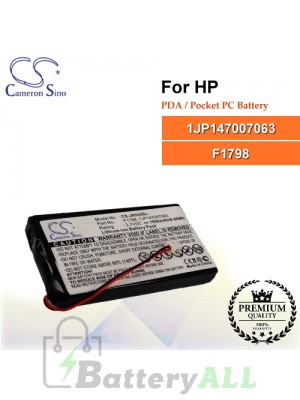 CS-JR520SL For HP PDA / Pocket PC Battery Model 1JP147007063 / F1798