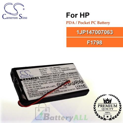 CS-JR520SL For HP PDA / Pocket PC Battery Model 1JP147007063 / F1798