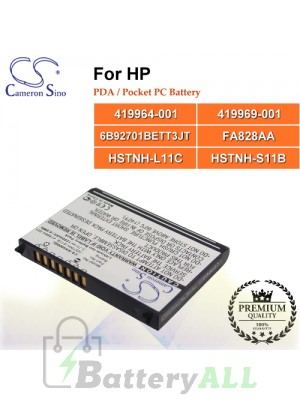 CS-RX4000SL For HP PDA / Pocket PC Battery Model 419964-001 / 419969-001 / 6B92701BETT3JT / FA828AA / HSTNH-L11C / HSTNH-S11B
