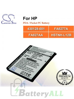 CS-RX5000SL For HP PDA / Pocket PC Battery Model 430128-001 / FA8277A / FA827AA / HSTNH-L12B