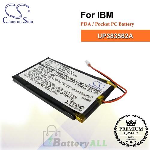 CS-PM500SL For IBM PDA / Pocket PC Battery Model UP383562A