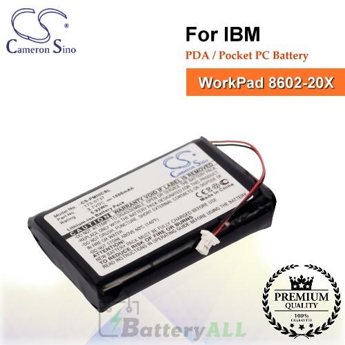 CS-PMIIICSL For IBM PDA / Pocket PC Battery Fit Model WorkPad 8602-20X