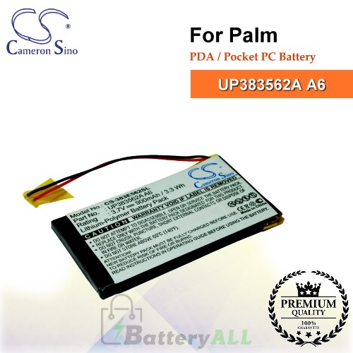 CS-383E562SL For Palm PDA / Pocket PC Battery Model UP383562A A6