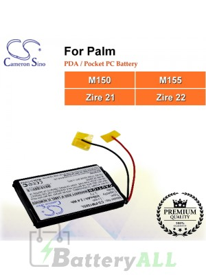 CS-PM150SL For Palm PDA / Pocket PC Battery Fit Model M150 / M155 / Zire 21 / Zire 22
