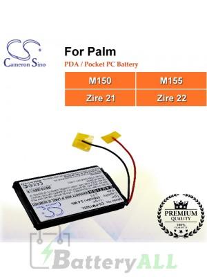CS-PM150SL For Palm PDA / Pocket PC Battery Fit Model M150 / M155 / Zire 21 / Zire 22