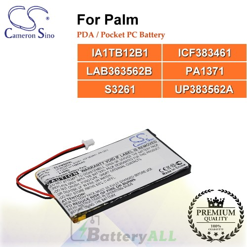 CS-PM500XL For Palm PDA / Pocket PC Battery Model IA1TB12B1 / ICF383461 / LAB363562B / PA1371 / S3261 / UP383562A