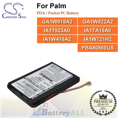 CS-PM550SL For Palm PDA / Pocket PC Battery Model GA1W918A2 / GA1W922A2 / IA1T923A0 / IA1TA16A0 / IA1W416A2 / IA1W721H2 / PBA80860US