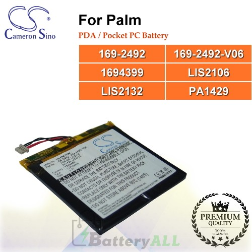 CS-PMI705SL For Palm PDA / Pocket PC Battery Model 169-2492 / 169-2492-V06 / 1694399 / LIS2106 / LIS2132 / PA1429