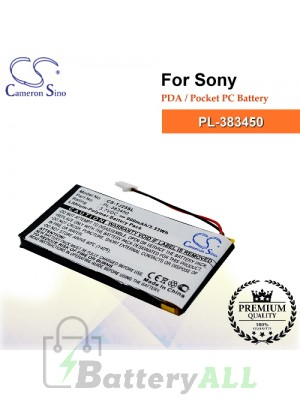 CS-TJ25SL For Sony PDA / Pocket PC Battery Model PL-383450