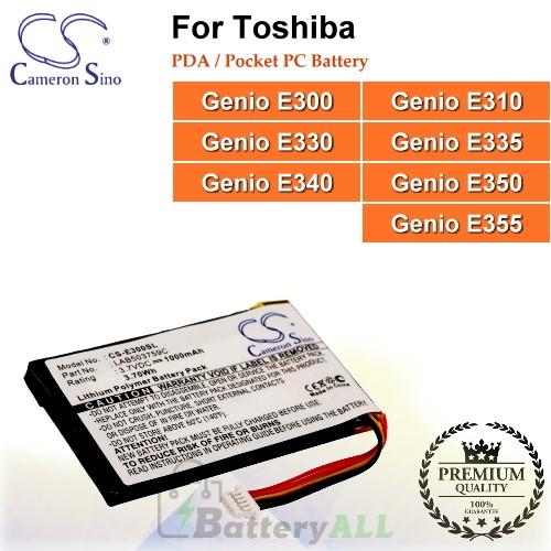 CS-E300SL For Toshiba PDA / Pocket PC Battery Model LAB503759C