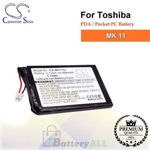 CS-MK11SL For Toshiba PDA / Pocket PC Battery Fit Model MK 11