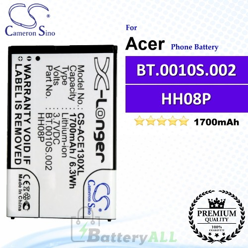 CS-ACE130XL For Acer Phone Battery Model HH08P / BT.0010S.002