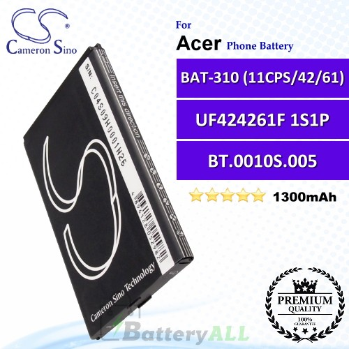 CS-ACE310SL For Acer Phone Battery Model BAT-310 (11CPS/42/61) / BT.0010S.002 / BT.0010S.005 / UF424261F 1S1P