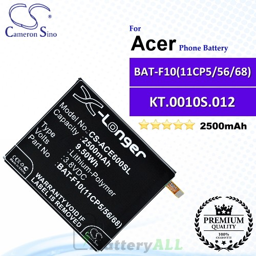 CS-ACE600SL For Acer Phone Battery Model BAT-F10(11CP5/56/68) / KT.0010S.012