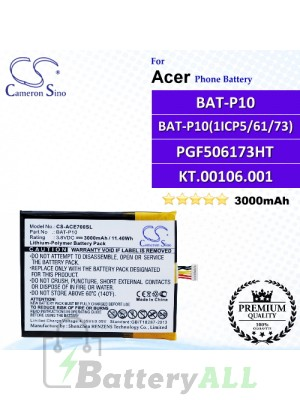 CS-ACE700SL For Acer Phone Battery Model BAT-P10 / BAT-P10 (1ICP5/61/73) / PGF506173HT / KT.00106.001