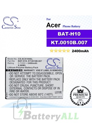 CS-ACX100SL For Acer Phone Battery Model BAT-H10 / KT.0010B.007