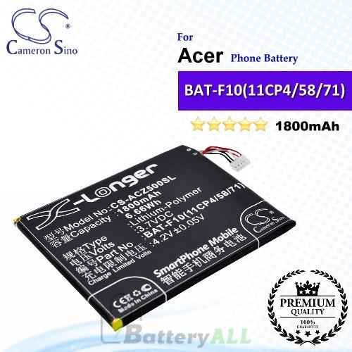 CS-ACZ500SL For Acer Phone Battery Model BAT-F10(11CP4/58/71)