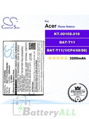 CS-ACZ630SL For Acer Phone Battery Model BAT-T11 / BAT-T11(1ICP4/68/88) / KT.0010S.018