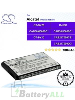 CS-OT383SL For Alcatel Phone Battery Model B-U8C / CAB2170000C1 / CAB2170000C2 / CAB217000C21 / CAB30M0000C1 / CAB30U0000C1 / OT-BY10 / OT-BY20