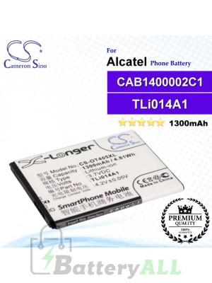 CS-OT405XL For Alcatel Phone Battery Model CAB1400002C1 / CAB31C00002C1 / TLi014A1