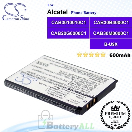 CS-OT505SL For Alcatel Phone Battery Model CAB3010010C1 / CAB30B4000C1 / CAB20G0000C1 / CAB30M0000C1 / B-U9X