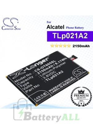 CS-OT605SL For Alcatel Phone Battery Model TLp021A2