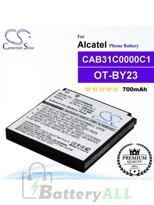 CS-OT606SL For Alcatel Phone Battery Model OT-BY23 / CAB31C0000C1