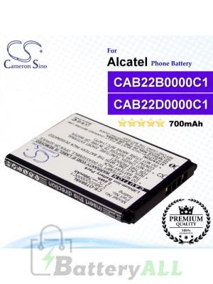 CS-OT665SL For Alcatel Phone Battery Model CAB22D0000C1 / CAB22B0000C1