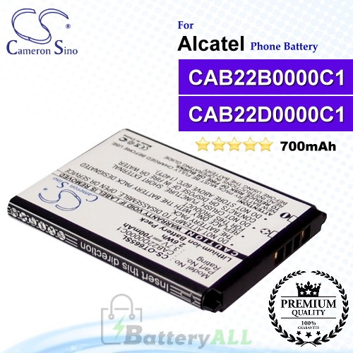 CS-OT665SL For Alcatel Phone Battery Model CAB22D0000C1 / CAB22B0000C1