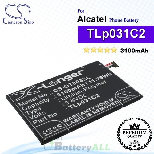 CS-OT803SL For Alcatel Phone Battery Model TLP031C1 / TLp031C2