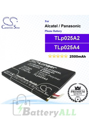 CS-OT808SL For Alcatel Phone Battery Model CAC2500013C2 / TLp025A2 / TLp025A4