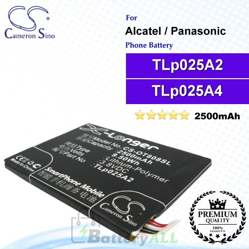 CS-OT808SL For Alcatel Phone Battery Model CAC2500013C2 / TLp025A2 / TLp025A4