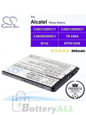 CS-OT880SL For Alcatel Phone Battery Model BTR510AB / BY42 / CAB20K0000C1 / CAB3120000C1 / CAB3120000C3 / CAB3122001C1 / CAB31L0000C1 / TB-04BA