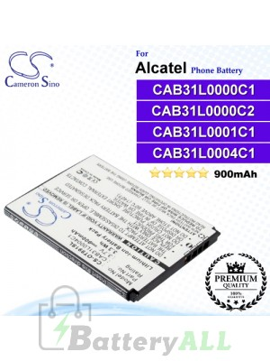 CS-OT891SL For Alcatel Phone Battery Model CAB31L0000C1 / CAB31L0000C2 / CAB31L0001C1 / CAB31L0004C1 / CAB31Y0004C1