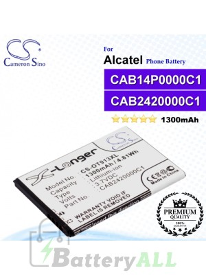 CS-OT913XL For Alcatel Phone Battery Model CAB14P0000C1 / CAB2420000C1