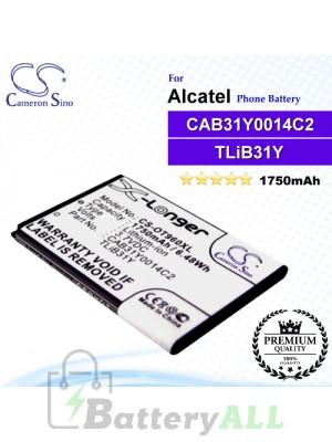 CS-OT960XL For Alcatel Phone Battery Model CAB31Y0008C2 / CAB31Y0014C2 / TLiB31Y