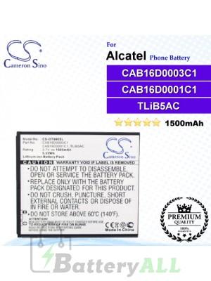 CS-OT986SL For Alcatel Phone Battery Model CAB16D0001C1 / CAB16D0002C1 / CAB16D0003C1 / TLiB5AC