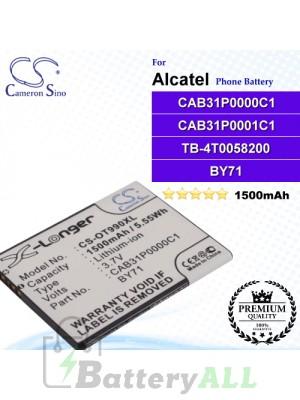 CS-OT990XL For Alcatel Phone Battery Model CAB31P0000C1 / CAB31P0001C1 / TB-4T0058200 / BY71