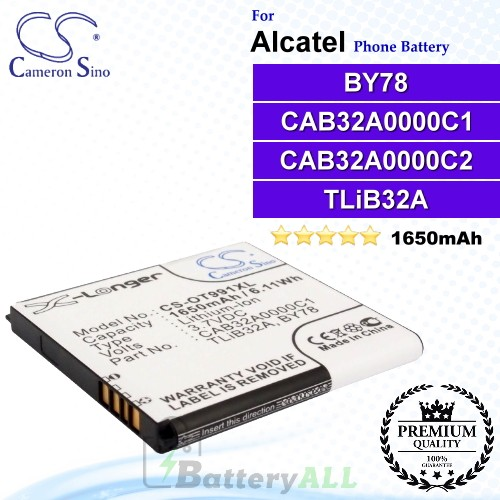 CS-OT991XL For Alcatel Phone Battery Model TLiB32A / CAB32A0000C2 / BY78 / CAB32A0000C1
