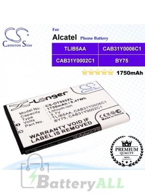 CS-OT995XL For Alcatel Phone Battery Model BY75 / CAB150000SC1 / CAB31Y0002C1 / CAB31Y0006C1 / TLiB5AA / TLiB5AD