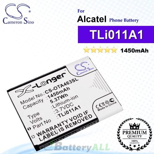 CS-OTA463SL For Alcatel Phone Battery Model TLi011A1