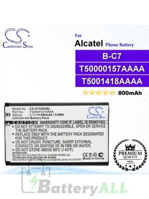 CS-OTC630SL For Alcatel Phone Battery Model B-C7 / T50000157AAAA / T5001418AAAA