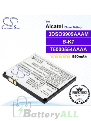 CS-OTC825SL For Alcatel Phone Battery Model B-K7 / T5000554AAAA / 3DSO9909AAAM