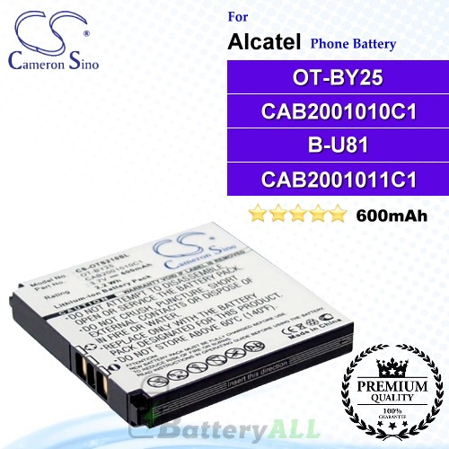 CS-OTS210SL For Alcatel Phone Battery Model OT-BY25 / CAB2001010C1 / B-U81 / CAB2001011C1
