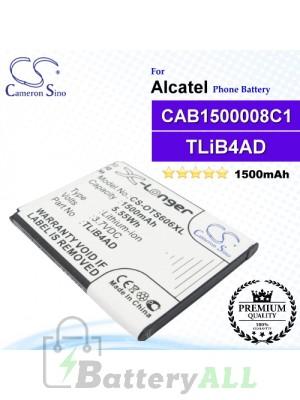 CS-OTS606XL For Alcatel Phone Battery Model TLiB4AD / CAB1500008C1