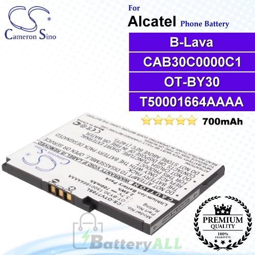 CS-OTV770SL For Alcatel Phone Battery Model OT-BY30 / T5001664AAAA / CAB30C0000C1 / B-Lava