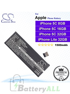 CS-IPH520SL For Apple Phone Battery Model 616-0667 / G69TA007H / PP11AT11S-1 For iPhone 5C / iPhone Light 32GB