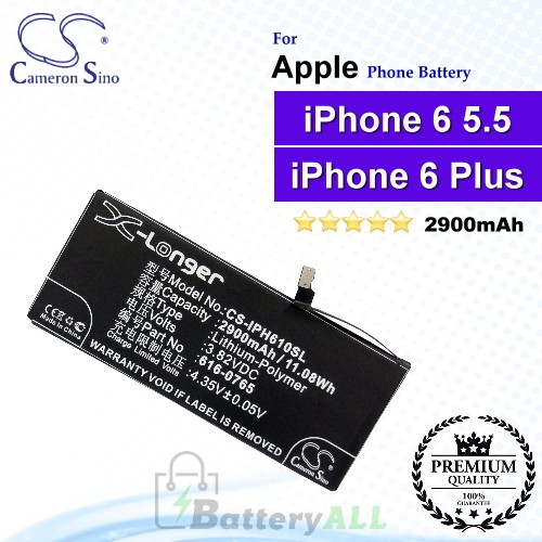 CS-IPH610SL For Apple Phone Battery Model 616-0765 / 616-0770 / 616-0772 / DAK90151 / PP11AT115-1 For iPhone 6 Plus