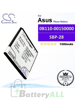 CS-AP280SL For Asus Phone Battery Model 0B110-00150000 / SBP-28