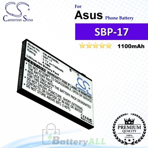 CS-AP320SL For Asus Phone Battery Model SBP-17